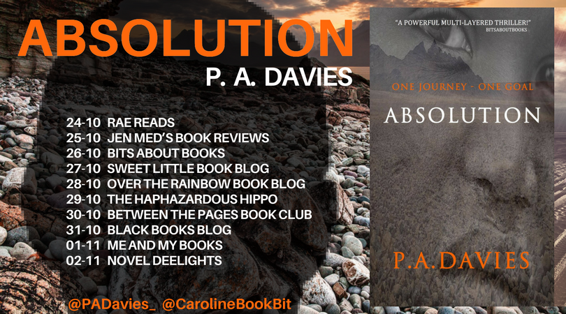 Absolution - P.A. Davies - Blog Tour Poster - Blog Post Image
